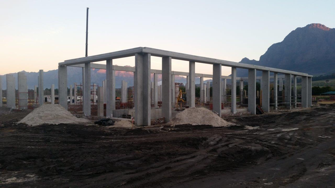 Construction with specialised precast concrete designs