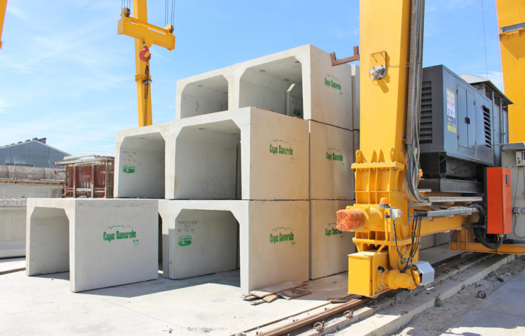 Precast concrete for the civil engineering industry